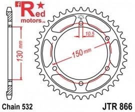 Foaie/pinion spate JTR866.46 532 cu 46 de dinti pentru Yamaha FZR 750, FZR 1000, XJR 1200