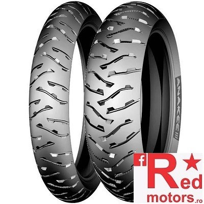 Set anvelope/cauciucuri moto Michelin Anakee 3 100/90 R19 57H + 130/80 R17 65H