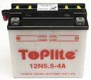 Acumulator moto TOPLITE YUASA - 12N5,5-4A (CU INTR., NU INCL. ACID)