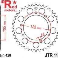 Foaie/pinion spate JTR1131.52 420 cu 52 de dinti pentru Aprilia RX 50, Derbi Senda 50