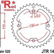 Foaie/pinion spate JTR1415.37 520 cu 37 de dinti pentru Dinli Dinli 450, Kawasaki KFX 450, Masai A 450, Masai Demon 460