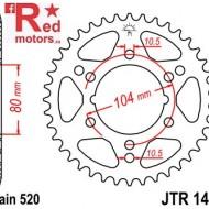 Foaie/pinion spate JTR1478.40 520 cu 40 de dinti pentru Kawasaki ZX-10R 1000, 600, 636, Polaris Scrambler 500