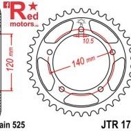 Foaie/pinion spate JTR1792.42 525 cu 42 de dinti pentru Kawasaki, Suzuki DL 650