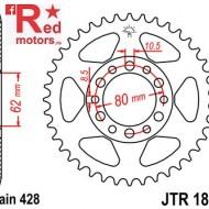 Foaie/pinion spate JTR1842.45 428 cu 45 de dinti pentru Yamaha DT 125, TW 125, XT 350