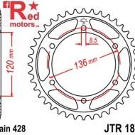 Foaie/pinion spate JTR1847.55 428 cu 55 de dinti pentru Yamaha FZR 400, TDR 125