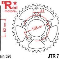 Foaie/pinion spate JTR701.41 520 cu 41 de dinti pentru Aprilia RS 125, Cagiva Mito 125