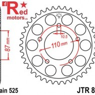 Foaie/pinion spate JTR807.48 525 cu 48 de dinti pentru Suzuki GSF 400, GSF 650