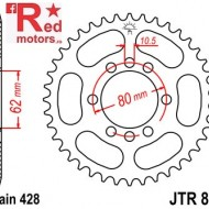 Foaie/pinion spate JTR843.53 428 cu 53 de dinti pentru Yamaha DT 80, DT 175