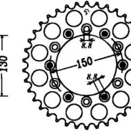 FOAIE SPATE JT 48 DINTI (JTR245/2) - HONDA XR600R -1990