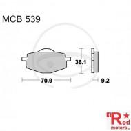 Placute frana fata SCOOTER TRW ALTN 70.9x36.1x9.2 MCB539 pentru Italjet Millennium 125, Malaguti Centro 125, MBK XC 125, Yamaha DT 50, XC 125