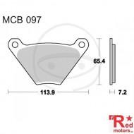 Placute frana fata STD TRW ALTN 113.9x65.4x7.2 MCB097 pentru Harley Davidson FL 1200, FLH 1200, FX 1200, FXE 1340