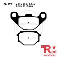 Placute frana spate STD EBC ALTN 85x42.5x7.3/56x35x9.7 FA173 pentru Aprilia ETX 125, Moto 650, Pegaso 650, Beta Euro 350, Cagiva W12 350, 600, MZ/MUZ Baghira 660