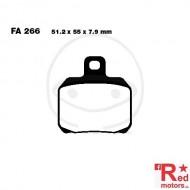 Placute frana spate CARBON SCOOTER EBC 51.2x55x7.9 FA266 pentru CPI GTR 50 LC, Gilera Nexus 500, Peugeot Speedfight 3 50, Suzuki UH 150, Yamaha YP 180 Majesty