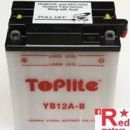 Baterie/acumulator moto Toplite/Yuasa YB12A-B pentru Honda CB450S, GB500, VFR750F, XBR500, XL600V