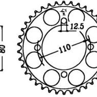FOAIE JT 48 DINTI (JTR284) - HONDA CB750/K2/K6/F1