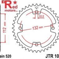 Foaie/pinion spate JTR1072.38 520 cu 38 de dinti pentru Arctic Cat DVX 250, DVX 300, Kymco Maxxer 300, TGB Blade 250