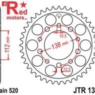 Foaie/pinion spate JTR1303.43 520 cu 43 de dinti pentru Honda CBR 600