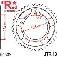 Foaie/pinion spate JTR1304.43 525 cu 43 de dinti pentru Honda CB 600 F Hornet