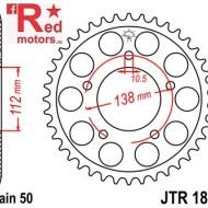 Foaie/pinion spate JTR1871.50 530 cu 50 de dinti pentru Yamaha YZF-R6 600