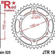 Foaie/pinion spate JTR1876.43 525 cu 43 de dinti pentru Suzuki GSX-R 600, GSX-R 750, Yamaha MT-07 700