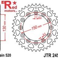 Foaie/pinion spate JTR245/2.51 520 cu 51 de dinti Honda CB 250, NX 250