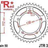 Foaie/pinion spate JTR302.44 530 cu 44 de dinti pentru Honda CB 900, CB 1100, CB 1300, CBF 1000