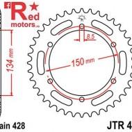 Foaie/pinion spate JTR463.48 428 cu 48 de dinti pentru Kawasaki KMX 125