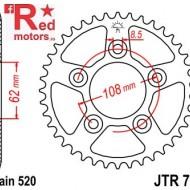 Foaie/pinion spate JTR701.38 520 cu 38 de dinti pentru Aprilia RS 125, Cagiva Mito 125