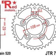 Foaie/pinion spate JTR701.42 520 cu 42 de dinti pentru Aprilia RS 125, Cagiva Mito 125