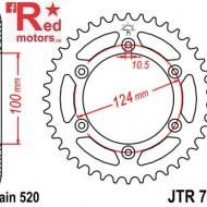 Foaie/pinion spate JTR735.43 520 cu 43 de dinti pentru Ducati