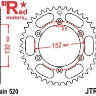 Foaie/pinion spate JTR8.48 520 cu 48 de dinti pentru BMW G 450