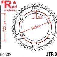 Foaie/pinion spate JTR867.42 525 cu 42 de dinti pentru Yamaha TDM 850