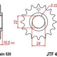 PINION FATA JT 16 DINTI (JTF402) - BMW F650/ST APRILIA PEGASO 1997