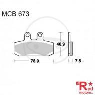Placute frana fata STD TRW ALTN 78.9x46.9x7.5 MCB673 pentru Honda CA 125 Rebel, CLR 125, NSR 125, Simson Schikra 125