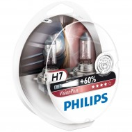 Set doua becuri far  H7 Philips Vision Plus +60%