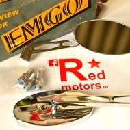 Set oglinzi cromate Emgo universale pentru chopper/cruiser 10mm