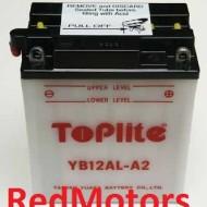 Baterie/acumulator motocicleta Toplite YB12AL-A2 pentru BMW, Yamaha, Aprilia, Kawasaki (fara electrolit)