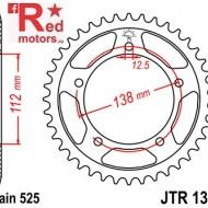 Foaie/pinion spate JTR1304.44 525 cu 44 de dinti pentru Honda CB 600 F Hornet