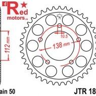 Foaie/pinion spate JTR1871.52 530 cu 52 de dinti pentru Yamaha YZF-R6 600