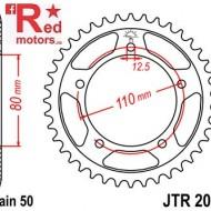 Foaie/pinion spate JTR2010.43 530 cu 43 de dinti pentru Triumph Adventurer 900, Daytona 750, 900, 1000, 1200, Sprint 900
