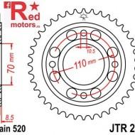Foaie/pinion spate JTR247.36 520 cu 36 de dinti Honda CB 250, CB 400