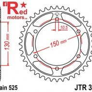 Foaie/pinion spate JTR300.43 525 cu 43 de dinti pentru Honda XL 600, XL 650