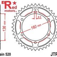 Foaie/pinion spate JTR5.47 520 cu 45 de dinti pentru Aprilia Moto 650, Pegaso 650