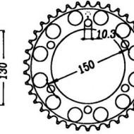 FOAIE SPATE JT 49 DINTI (JTR300) - HONDA XRV650 AFRICA TWIN / XL600V