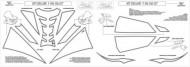 Kit sticker / autocolant Yamaha YZF R6