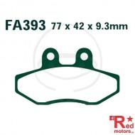 Placute frana fata CARBON SCOOTER EBC 77x42x9.3 FA393 pentru MBK XC 125, Yamaha XC 125