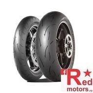 Set anvelope/cauciucuri moto Dunlop D212 GP Pro Race 120/70 R17 + 200/55 R17