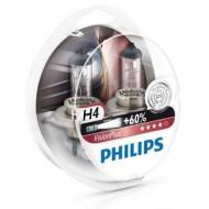 Set doua becuri far H4 12V 60/55W P43t VISION PLUS +60%
