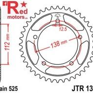 Foaie/pinion spate JTR1304.47 525 cu 47 de dinti pentru Honda CB 600 F Hornet