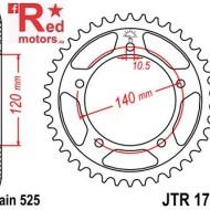 Foaie/pinion spate JTR1792.40 525 cu 40 de dinti pentru Kawasaki KLV 1000, Suzuki DL 650